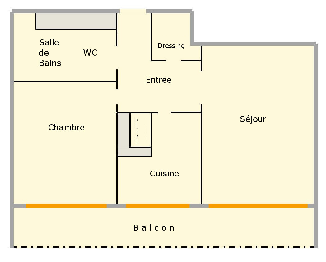 PARIS (75018) A LOUER - 2P avec parking - CHAMPIONNET / DAMREMONT